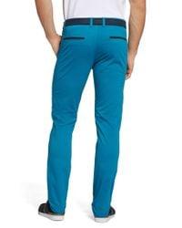 BOSS Green | Blue 'leeman-w' | Slim Fit, Stretch Cotton Pants for Men | Lyst