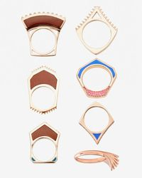 Eddie Borgo - Metallic Tuareg Ring Set Of 7 - Lyst