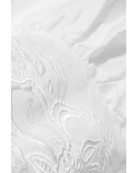 Roberto Cavalli - White Broderie Anglaise Cotton-voile Gown - Lyst