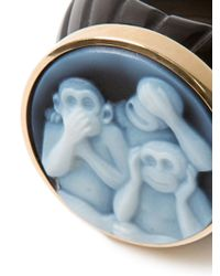 Amedeo | Black Three Monkey Ring | Lyst