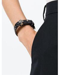 Alexander McQueen - Black Studded Skull Bracelet - Lyst