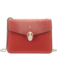 BVLGARI Red Serpenti Forever Hobo Calf-Leather Over The Shoulder Handbag - For Women
