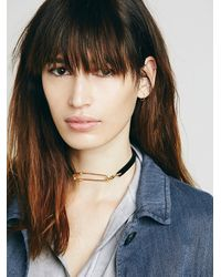 Free People - Black Ponyhair Pin Choker - Lyst