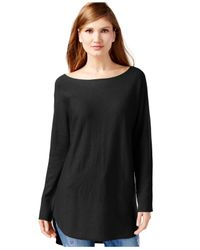 INC International Concepts | Black Dolman-sleeve Tunic Sweater, Only At Macy's | Lyst