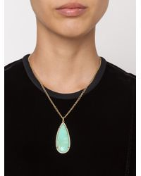 Irene Neuwirth - Multicolor 18kt Gold And Mint Chrysoprase Pendant - Lyst