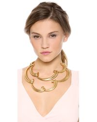 Oscar de la Renta - Metallic Bold Swirl Necklace - Lyst