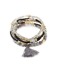 Forever 21 | Black Beaded Bracelet Set | Lyst
