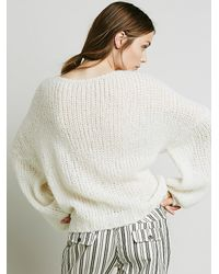 Free People - White Womens Alpaca Cloud Pullover - Lyst