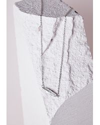 Missguided - Metallic Leaf Charm Body Chain Silver - Lyst