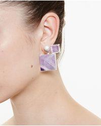 Volha | Pink Geometric Earrings | Lyst
