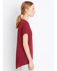 VINCE | Red Rolled Sleeve Mouline Tee | Lyst