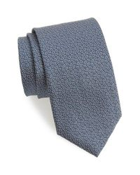 Canali - Gray Geometric Silk Tie for Men - Lyst