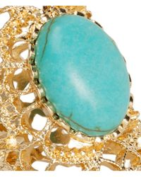 H&M - Blue Wide Ring - Lyst