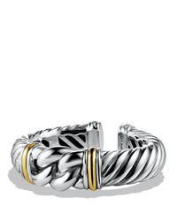David Yurman   Metallic Metro Bracelet With Gold   Lyst