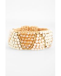 Panacea | Metallic Howlite Rope Cuff Bracelet | Lyst