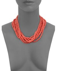 Kenneth Jay Lane | Pink Multi-strand Beaded Necklace | Lyst