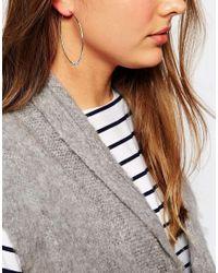 Orelia - Metallic Large Triple Bead Hoop Earrings - Lyst