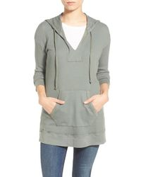 Splendid - Green Thermal Hooded Tunic - Lyst