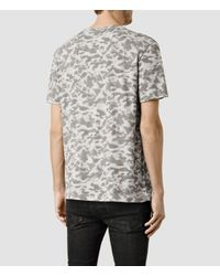 AllSaints - Gray Montauld Ss Crew for Men - Lyst