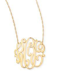 Jennifer Zeuner - Metallic 18K Gold Vermeil Medium 3-Letter Monogram Necklace - Lyst