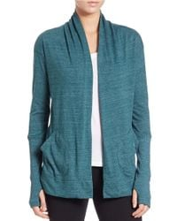 Alternative Apparel | Blue Open-front Knit Cardigan | Lyst
