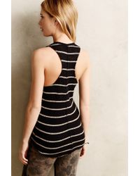 Anthropologie - Black Striped Sweaterknit Tank - Lyst