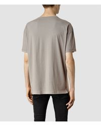 AllSaints - Brown Draken Crew T-shirt for Men - Lyst