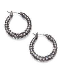 ABS By Allen Schwartz | Metallic Dark & Stormy Hoop Earrings/1.75 | Lyst