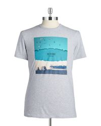 Ben Sherman | Blue Graphic Tee for Men | Lyst