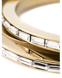 DSquared² - Metallic Embellished Triple Bangle - Lyst