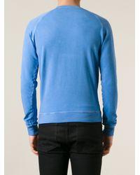 DSquared²   Blue Printed Sweatshirt for Men   Lyst