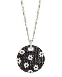 Roberto Coin - Black Sapphire Flower Pendant Necklace - Lyst