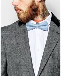 Noose And Monkey - Blue Bow Tie Wool for Men - Lyst