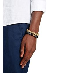 Nialaya | Black Beaded Bracelet for Men | Lyst