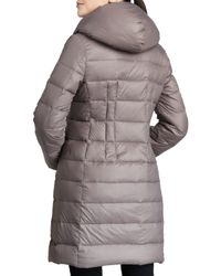 T Tahari - Gray Olivia Packable Puffer Coat - Lyst