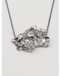 Maxime Llorens - Metallic Heart Crystal Pendant Necklace - Lyst