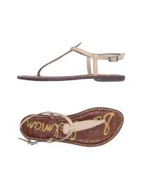 Sam Edelman - Natural Thong Sandal - Lyst