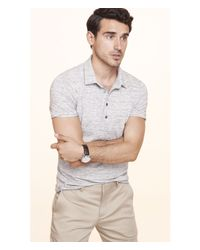 Express | Gray Space Dyed Signature Polo for Men | Lyst