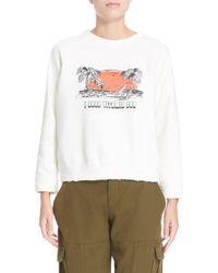 Sea | White 'i Need Vitamin ' Graphic Sweatshirt | Lyst