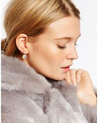ASOS - Metallic Blush Swing Earrings - Lyst