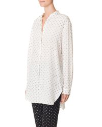 Tibi | White Diffusion Polka Dot Easy Shirt | Lyst