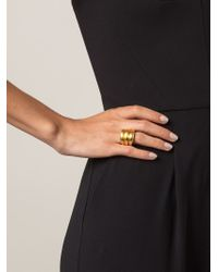 Vaubel | Metallic Triple Band Ring | Lyst