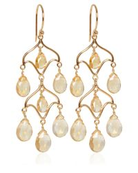 Dinny Hall - Metallic Gold Vermeil Citrine Chandelier Earrings - Lyst
