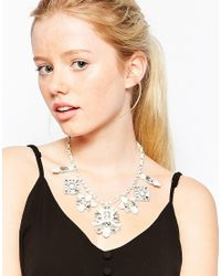 Oasis - Metallic Statement Necklace - Lyst