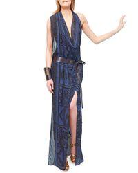 Donna Karan | Handforged Cuff with Leather Black | Lyst