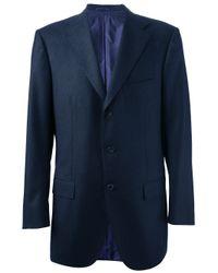 Kiton | Blue Classic Blazer for Men | Lyst