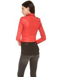 IRO | Red Luiga Leather Jacket | Lyst