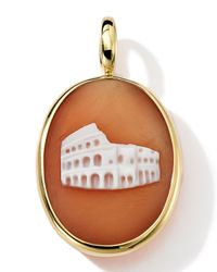 Ippolita | Brown 18k Gold Oval Colosseum Cameo Charm | Lyst