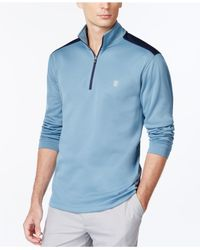 Izod | Blue Long Sleeve Quarter-zip Pullover for Men | Lyst