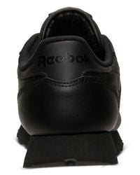 Reebok - Black Women's Classic Leather Casual Sneakers From Finish Line - Lyst